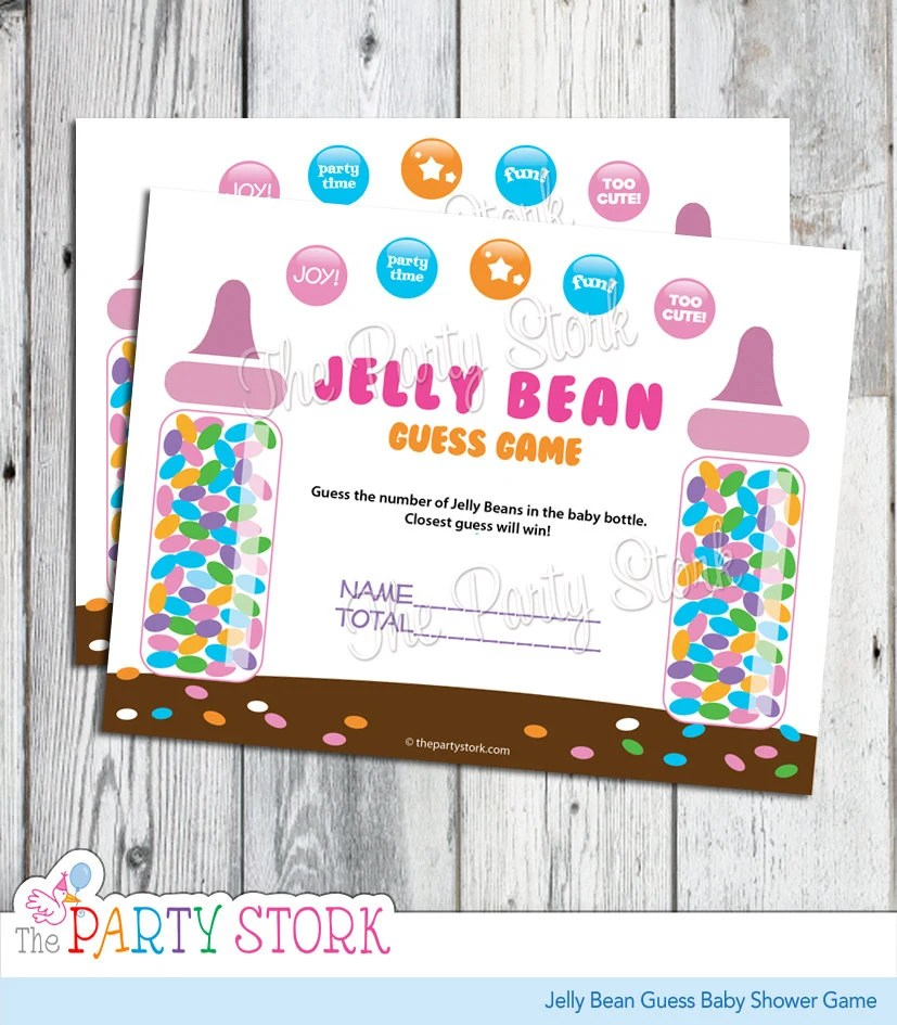 Candy Guessing Game, Jelly Bean Guess Baby Shower Game, Printable