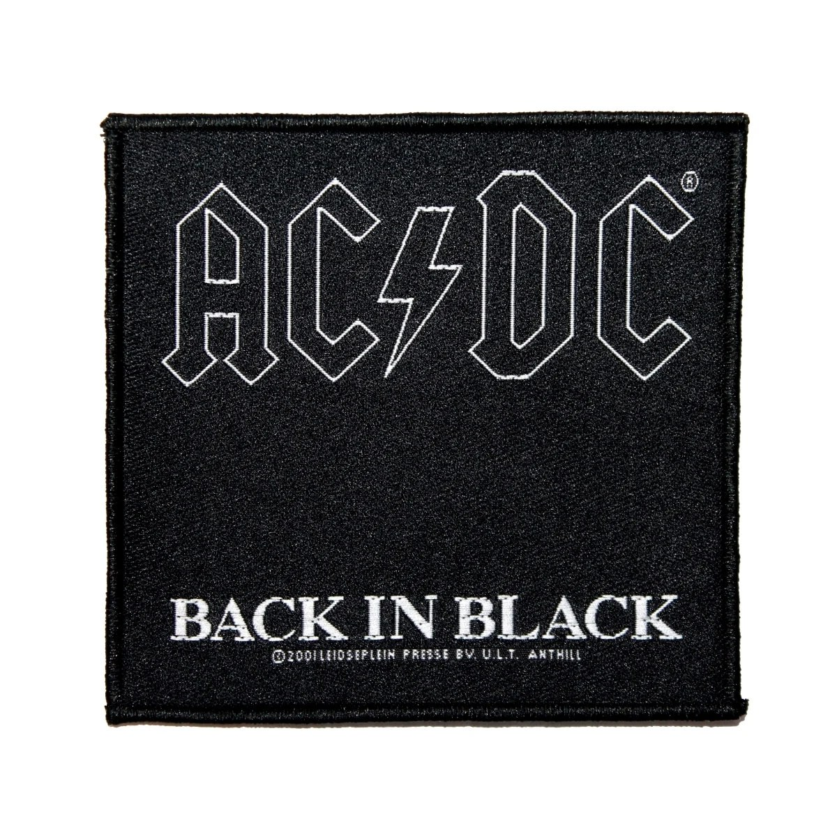 Rock Music Cover Ac Dc Acdc Back In Black Album Cover Patch Hard Rock Music Woven Sew On Applique