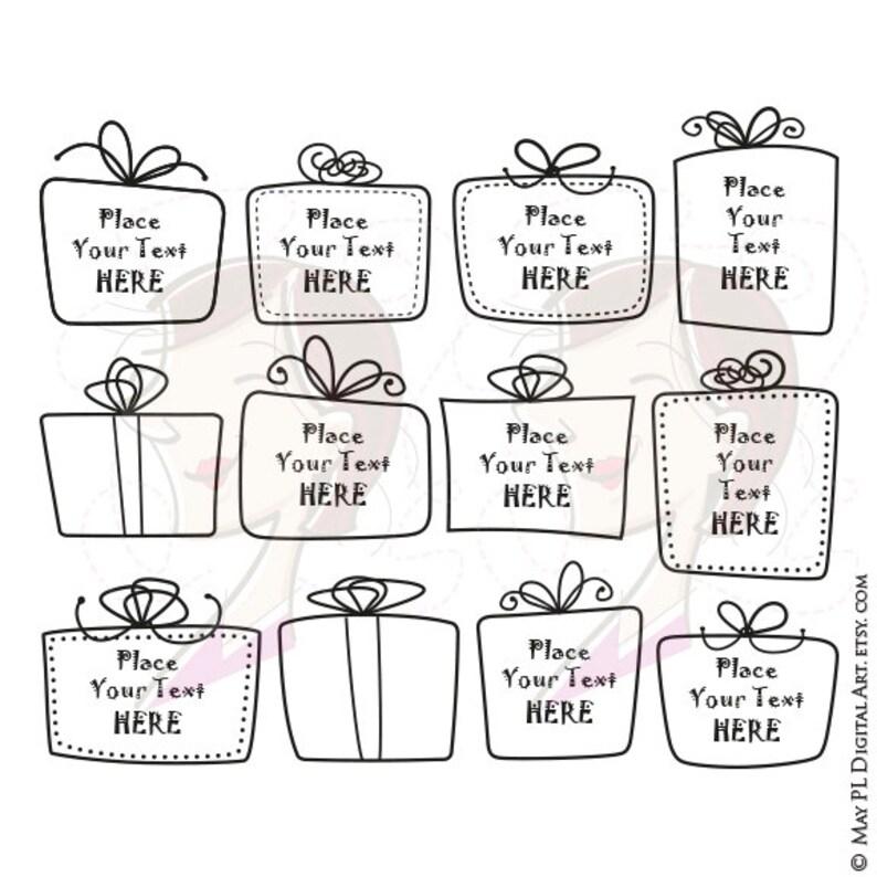 Gift Box Clipart Teacher Png Hand Drawn Whimsical Cute Etsy