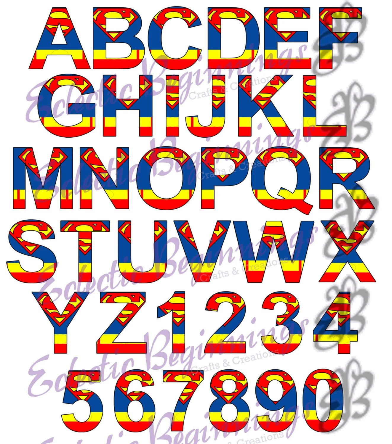 Alphabet and Numbers PNG Digital File Diy Print Clip Etsy