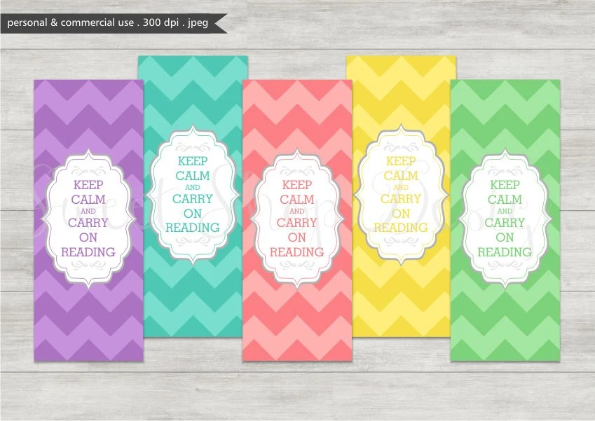 Digital Bookmark Printable Bookmarks Royalty Free Clipart Etsy