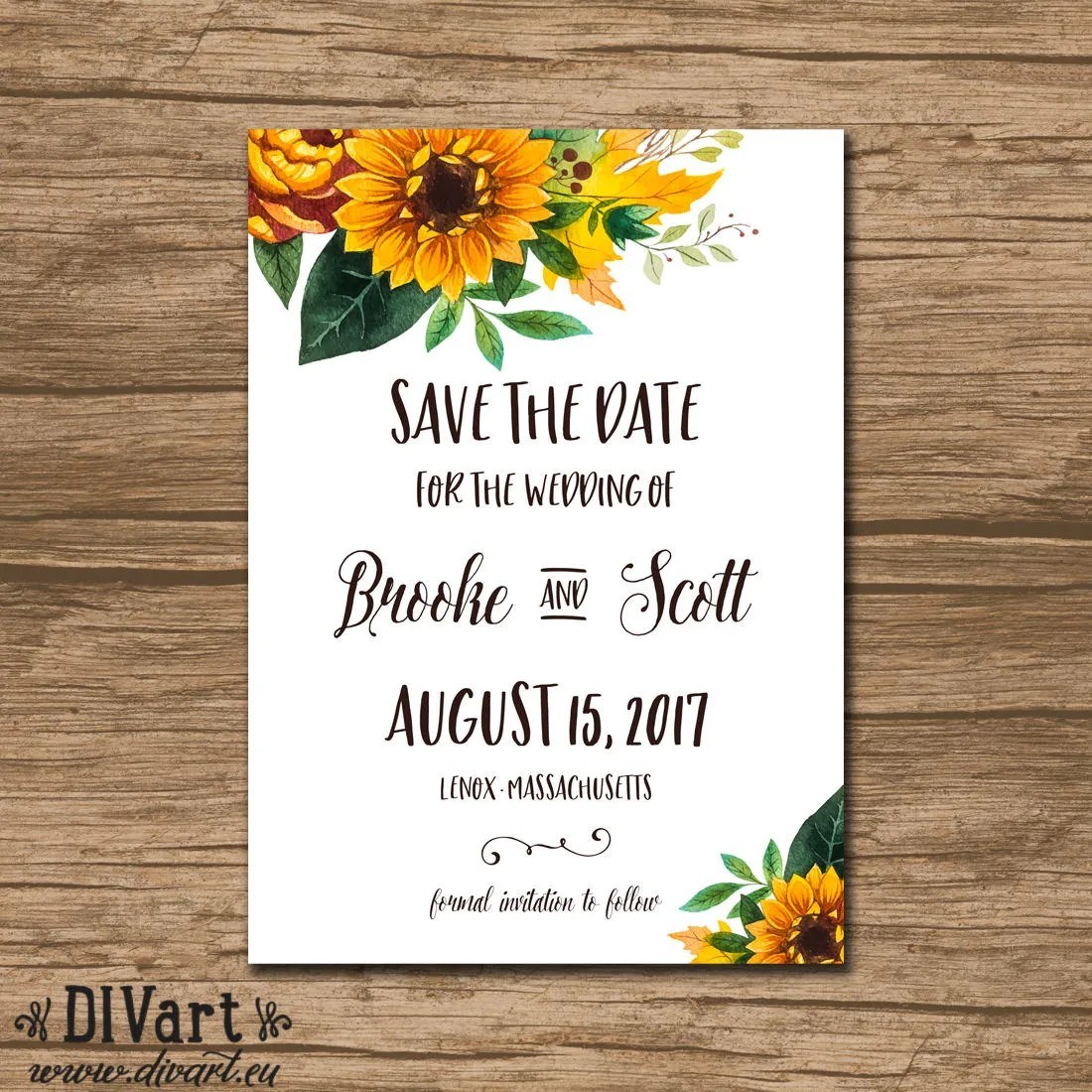Save the Date Save Our Date Wedding Announcement PRINTABLE Etsy