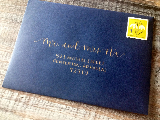 Wedding Calligraphy Envelope Addressing Modern Font Hand Etsy