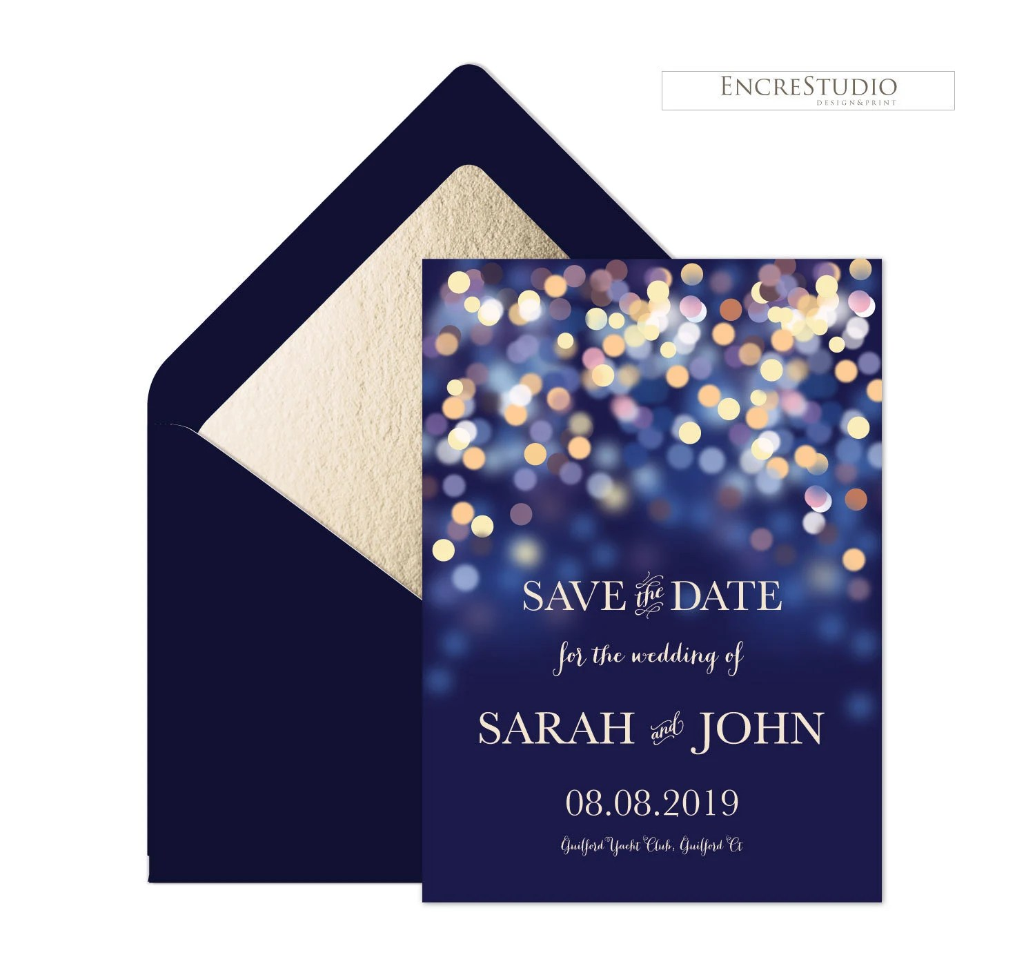 Printable Save the Date Invitation Starry Night Digital Etsy