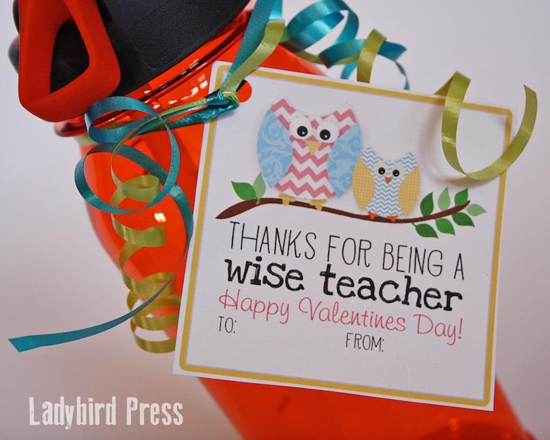 Printable Teacher Valentines Day Card Owl Classroom Etsy