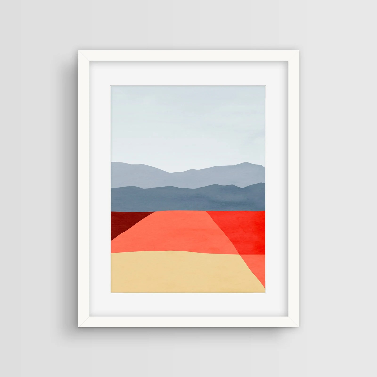 Wohnzimmer Modern Pastel Mid Century Modern Art Print Abstract Wall Art Minimalist Poster Office Decor Abstract Landscape Living Room Decor Red Wall Art