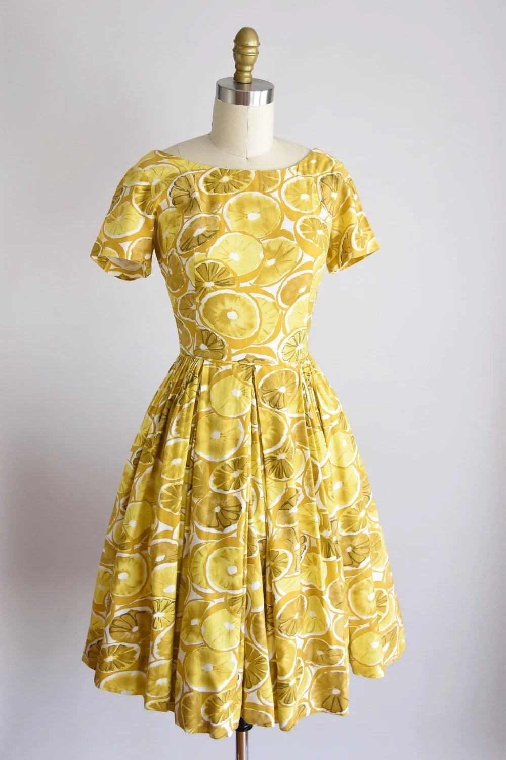Bett Sale Sale 1950s Lemonade Dress Vintage 50s Novelty Daydress Sa Bett Of California Lemon Dress