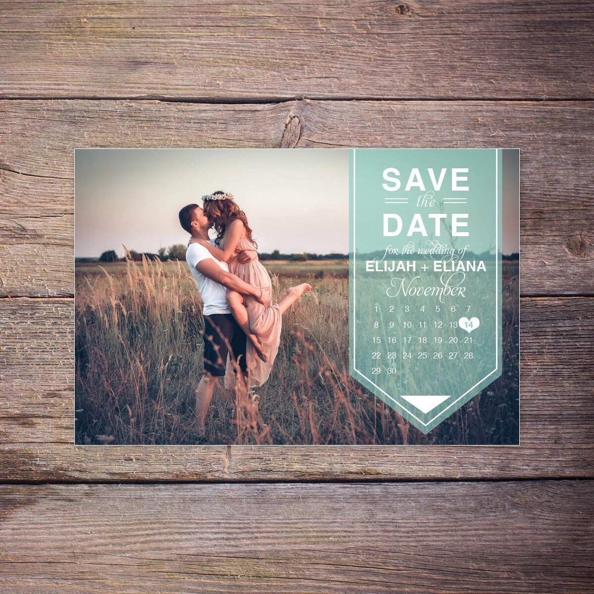 Modern Save the Date Postcard Save-the-Date Card Photo Etsy - save date postcard