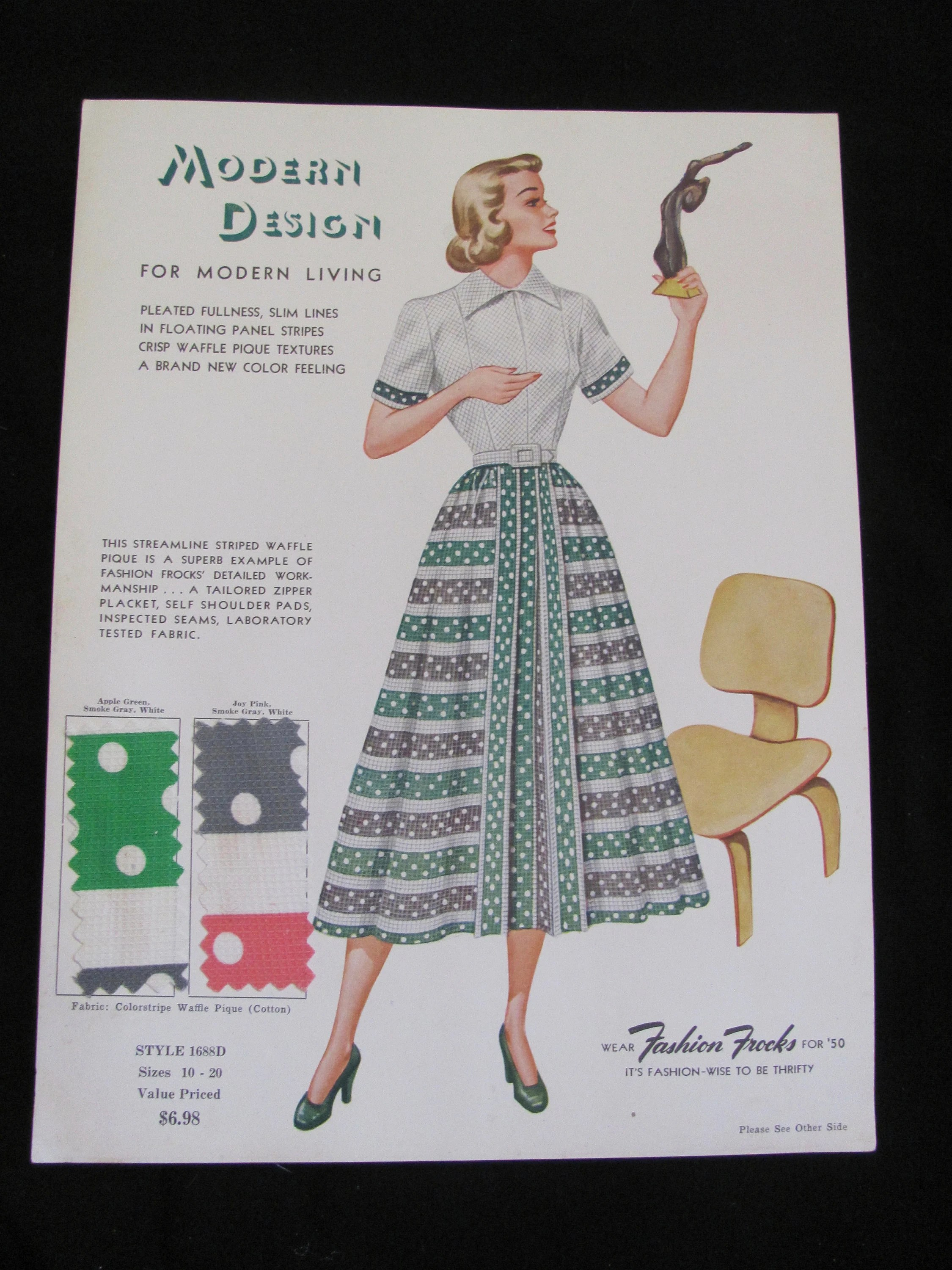 Vintage Retro Fashion Frocks Salesman Sample Advertisement Etsy