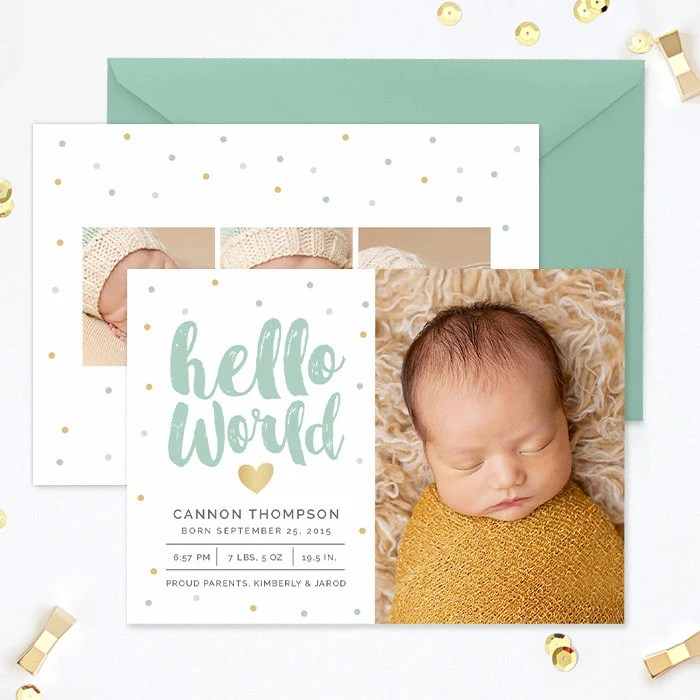 Birth Announcement Template Birth Announcement Template Boy Etsy