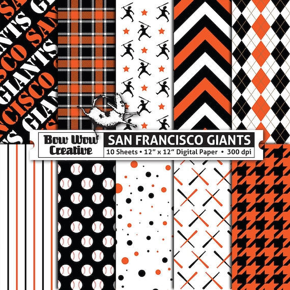 10 San Francisco Giants Digital Papers for Scrapbooking Etsy