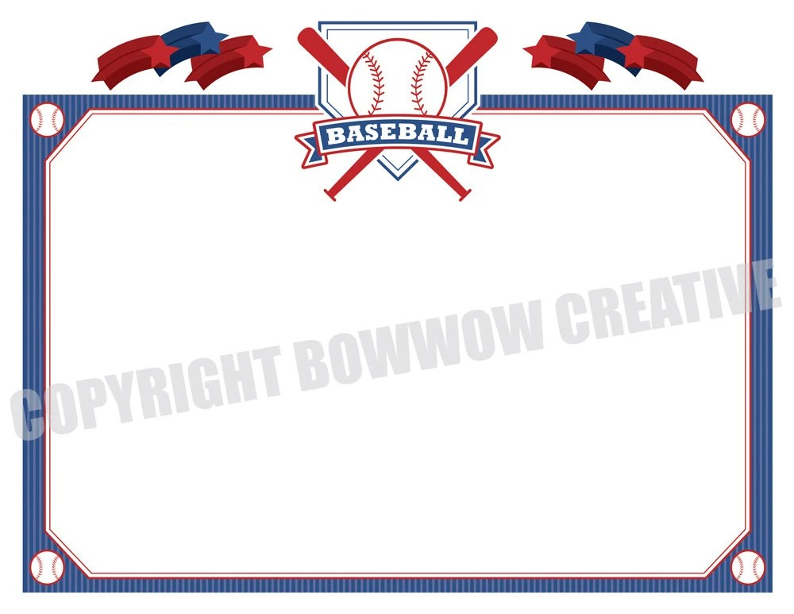 Baseball Certificate Softball Tee Ball Award Border Etsy
