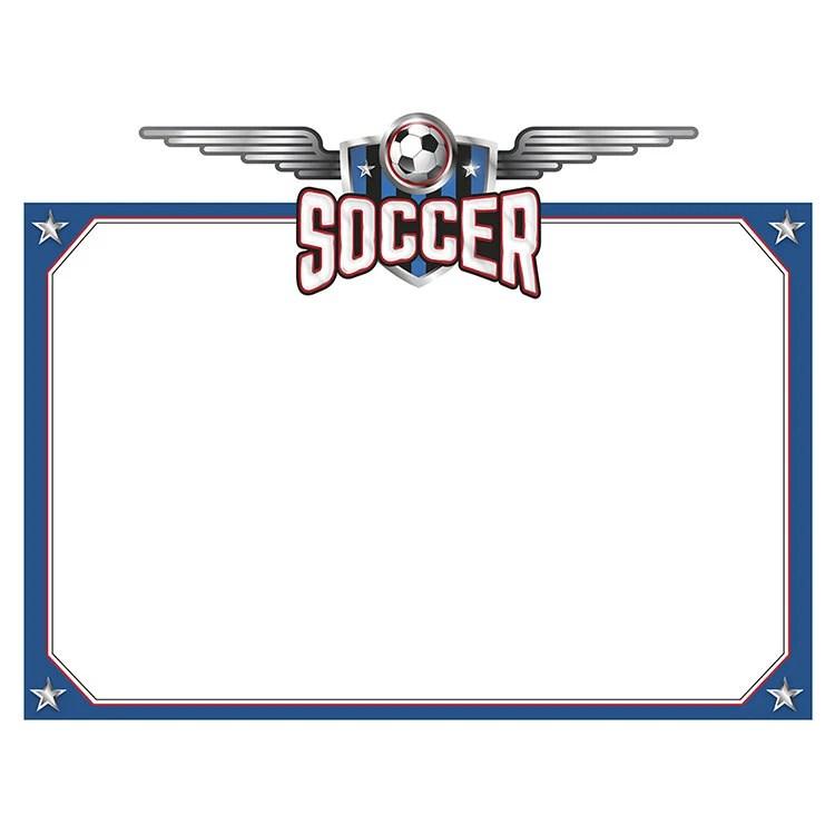 Soccer Certificate Football Award Border Frame Etsy