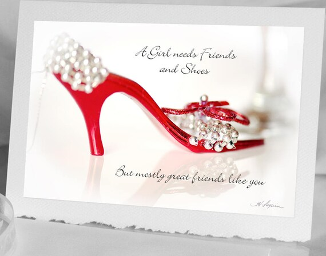 Shoe Birthday Card Notecard Bokeh Photo Greeting Card For