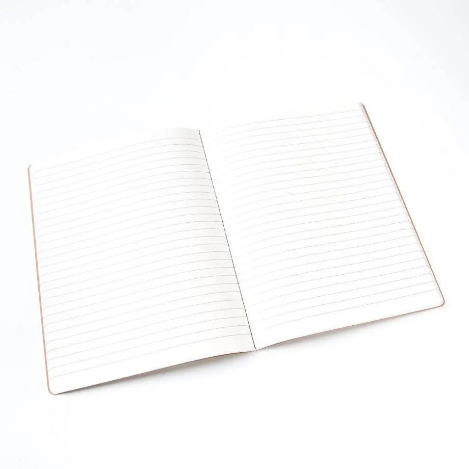 Large Kraft Notebook 112 lined blank pages bullet journal Etsy