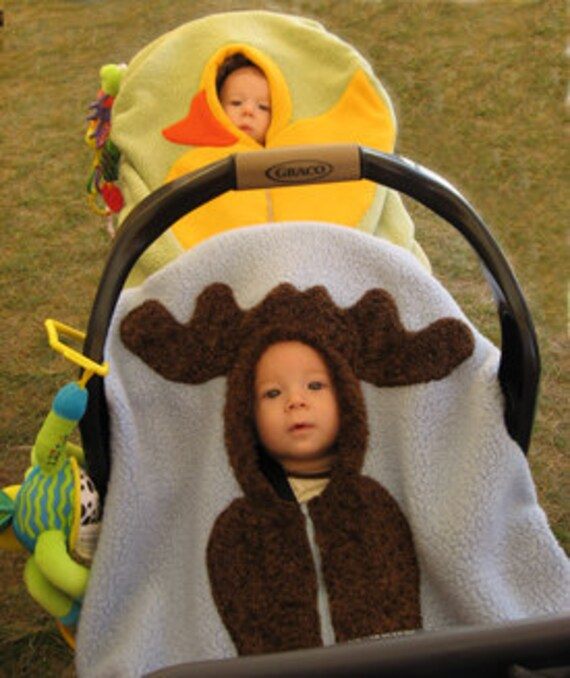 Infant Car Seat Canada Moose Baby Car Seat Cover On Periwinkle Blue Etsy