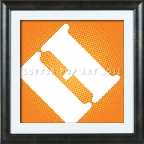 Alphabet Pop Art Print Using Home Depot Logo Letter H Etsy