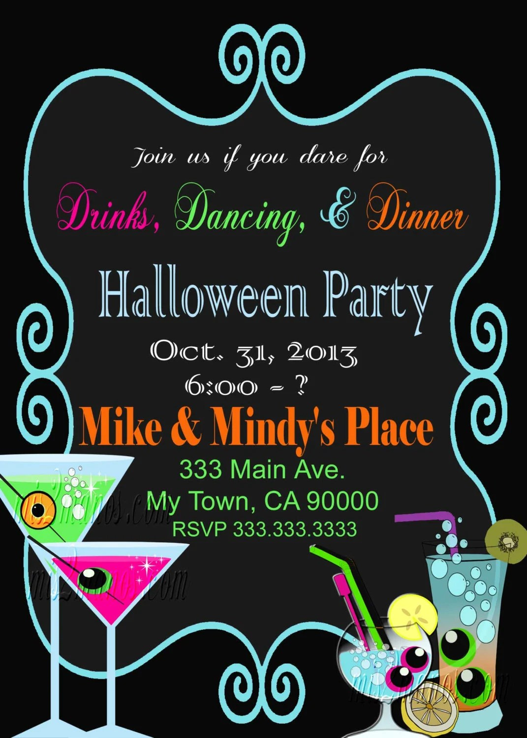 Halloween Party Invitation Office Party Birthday Party Etsy
