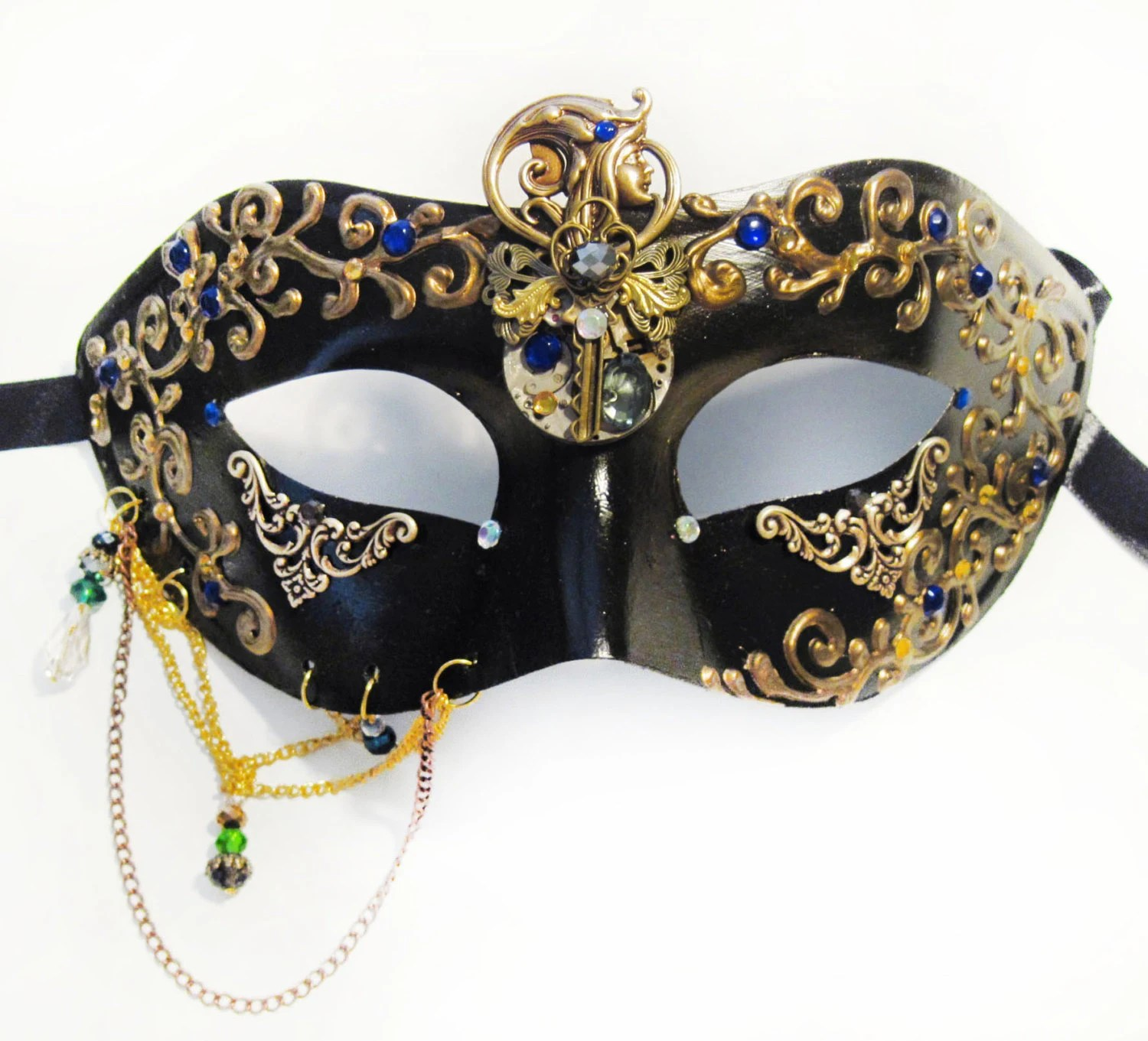 Punk Fashion Masquerade Mask Designer Steampunk Art Venice Etsy