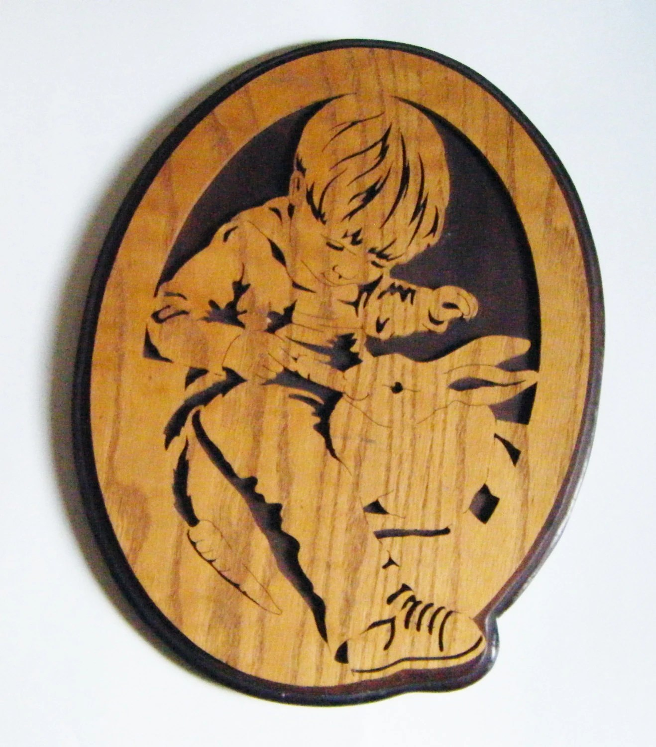 Carved Wood Wall Art Australia Intricately Carved Wood Wall Art Little Boy Feeding A