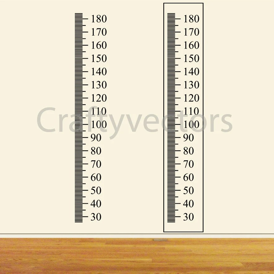 Ruler Growth Chart vector template Centimeters Etsy