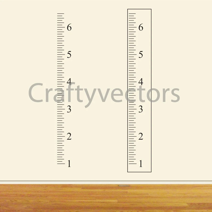 Ruler Growth Chart vector template Inches Etsy