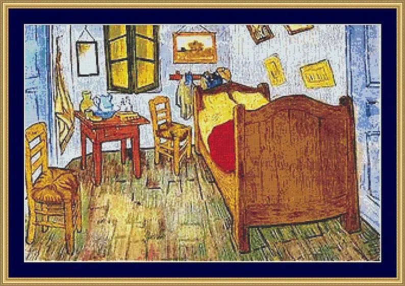 La Chambre De Van Gogh Cross Stitch Pattern /Digital PDF Files Etsy - Description De La Chambre De Van Gogh