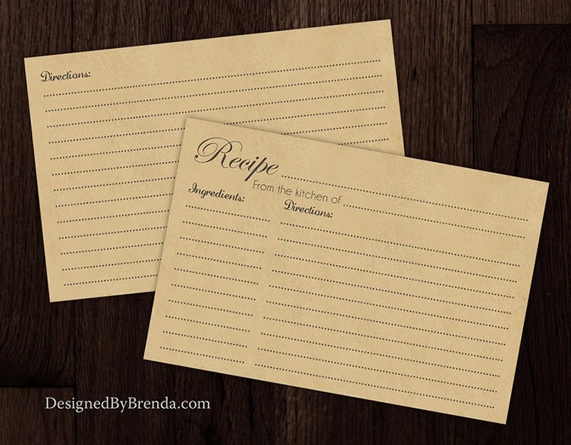 4x6 Kraft Brown Recipe Cards Ready to Ship Double Sided - double recipe cards