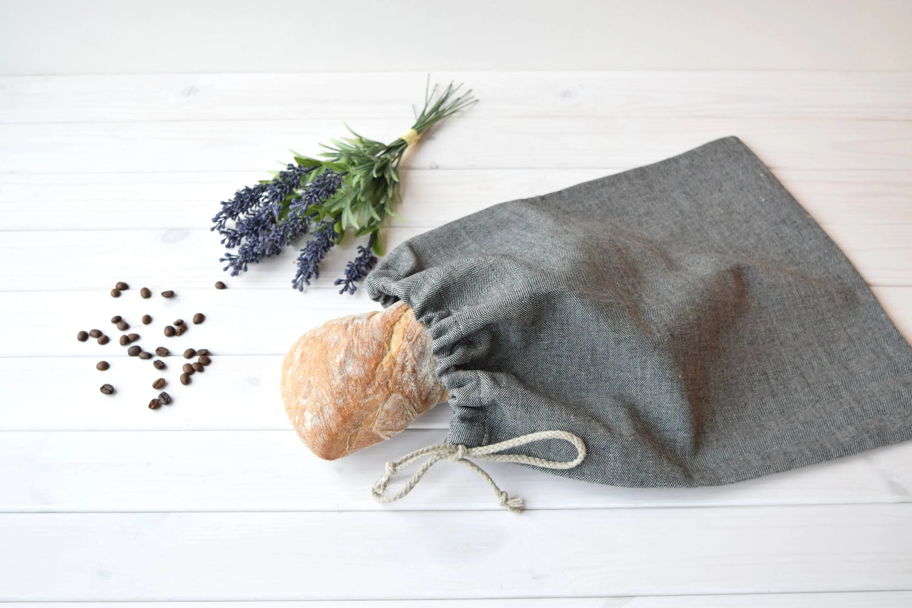 Storage Sac Bread Keeper Bread Bag Linen Cloth Bag Bread Storage Sac Pain Food Gift Basket Baguette Pain Flax Bread Bag Bread Bag Korbtasche