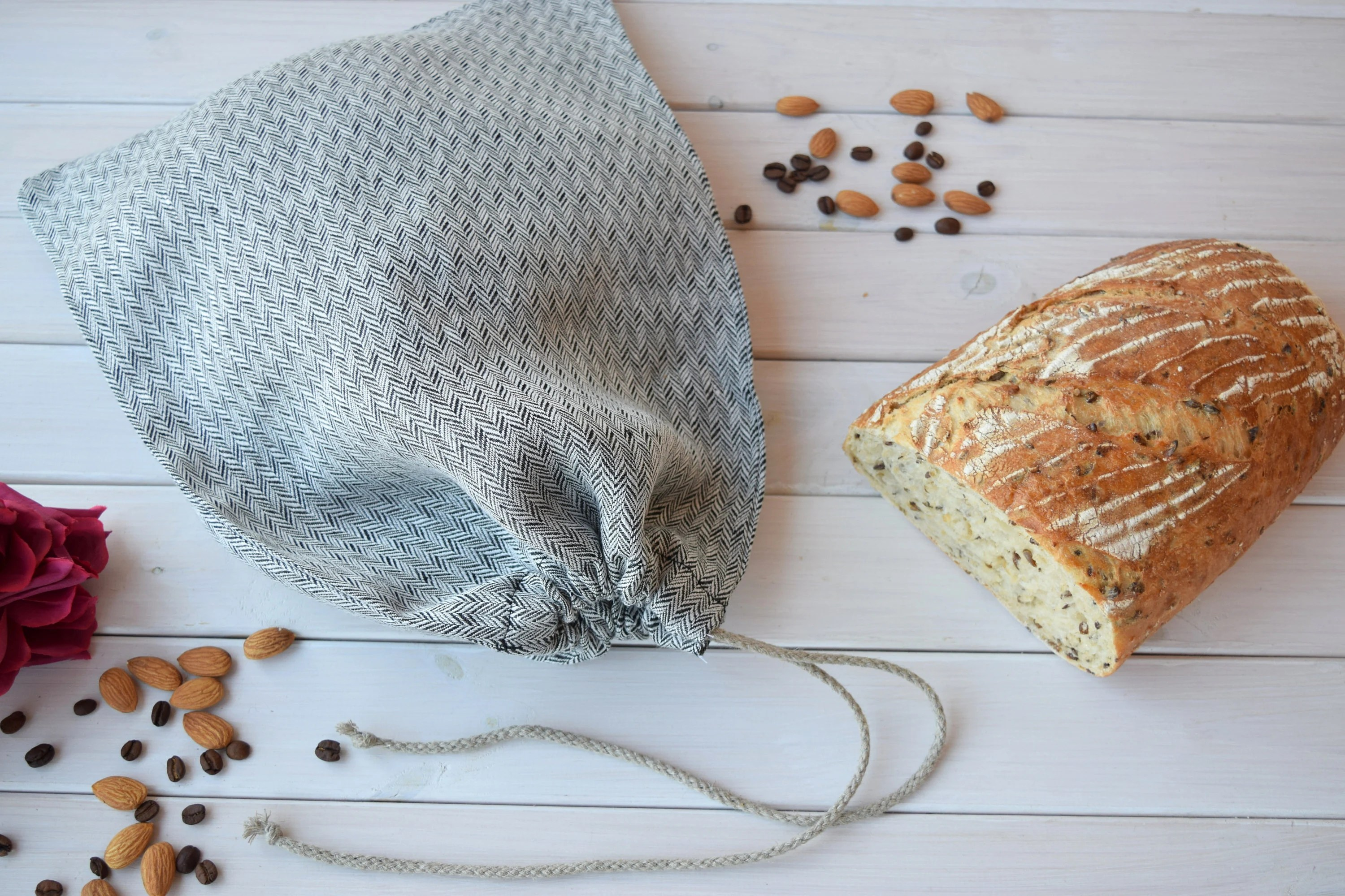 Storage Sac Bread Keeper Linen Cloth Bag Bread Storage Sac Pain Bread Bag Food Gift Basket Baguette Pain Flax Bread Bag Bread Bag Korbtasche