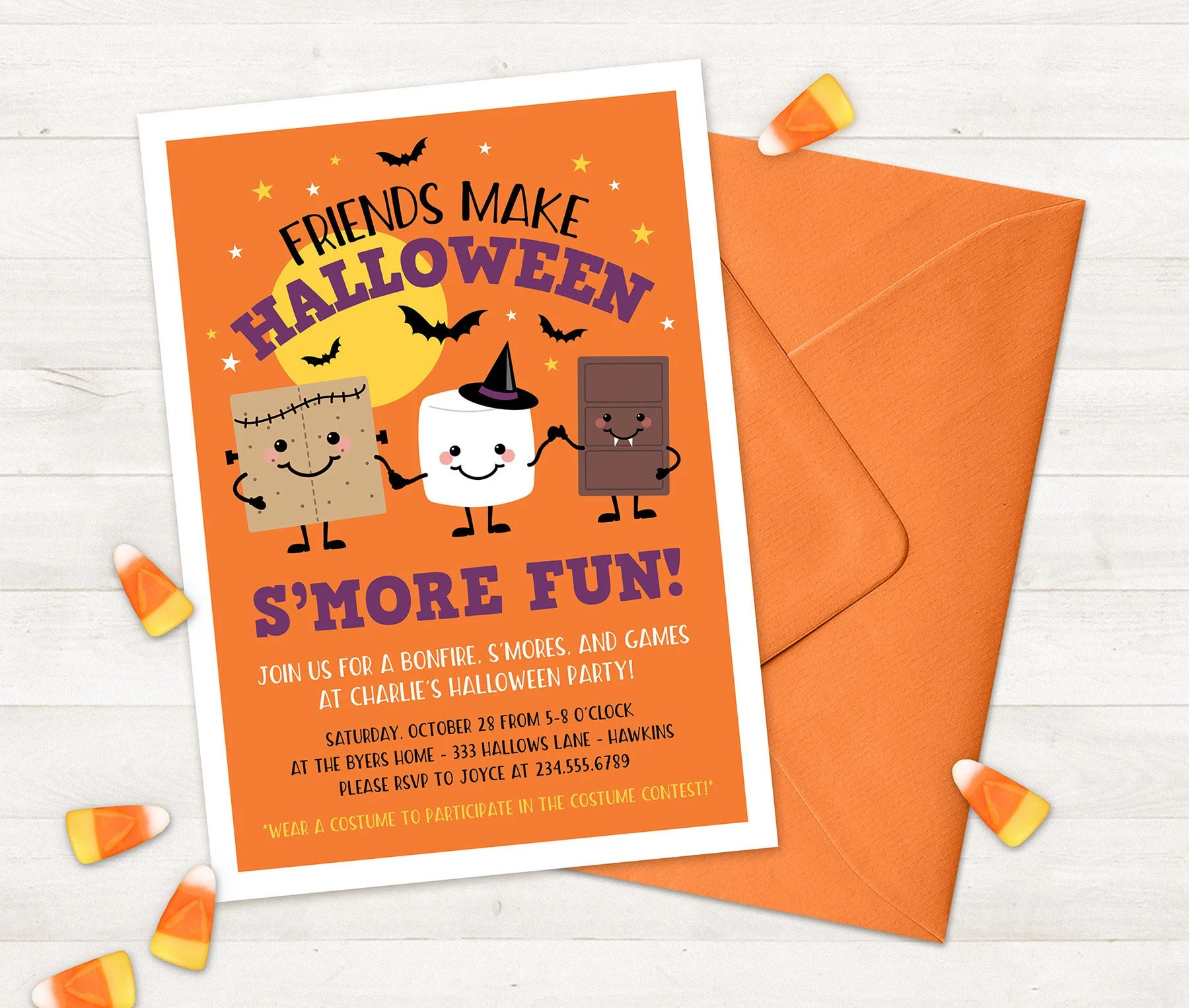 Halloween Invitation for Kids Printable halloween party Etsy