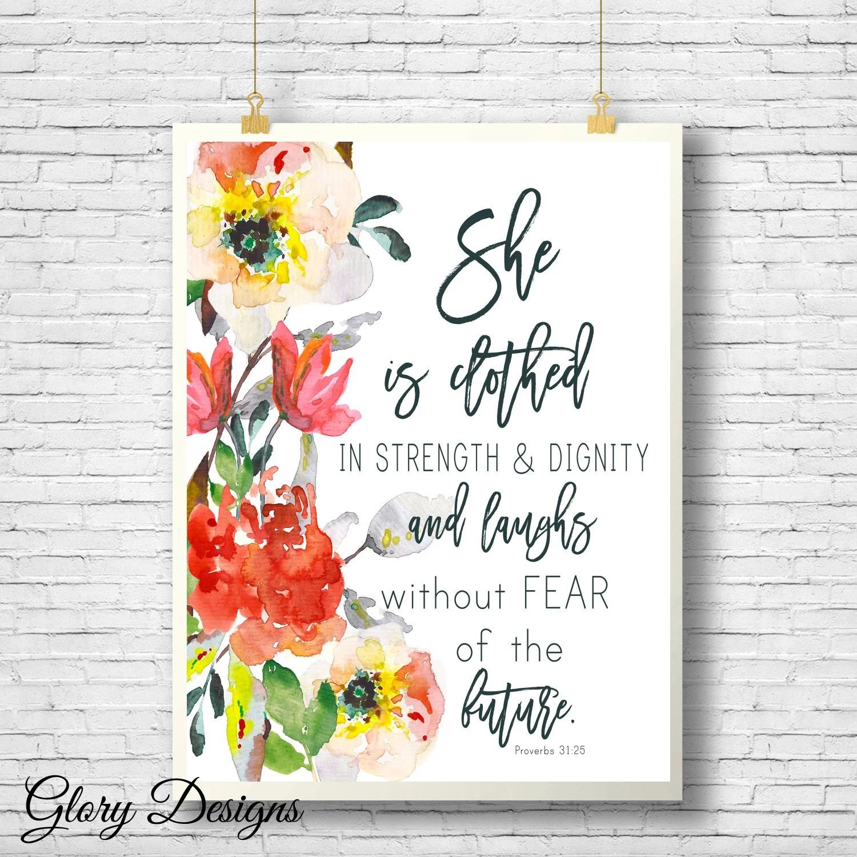 Printable Proverbs 3125 printable Floral printable Bible Etsy