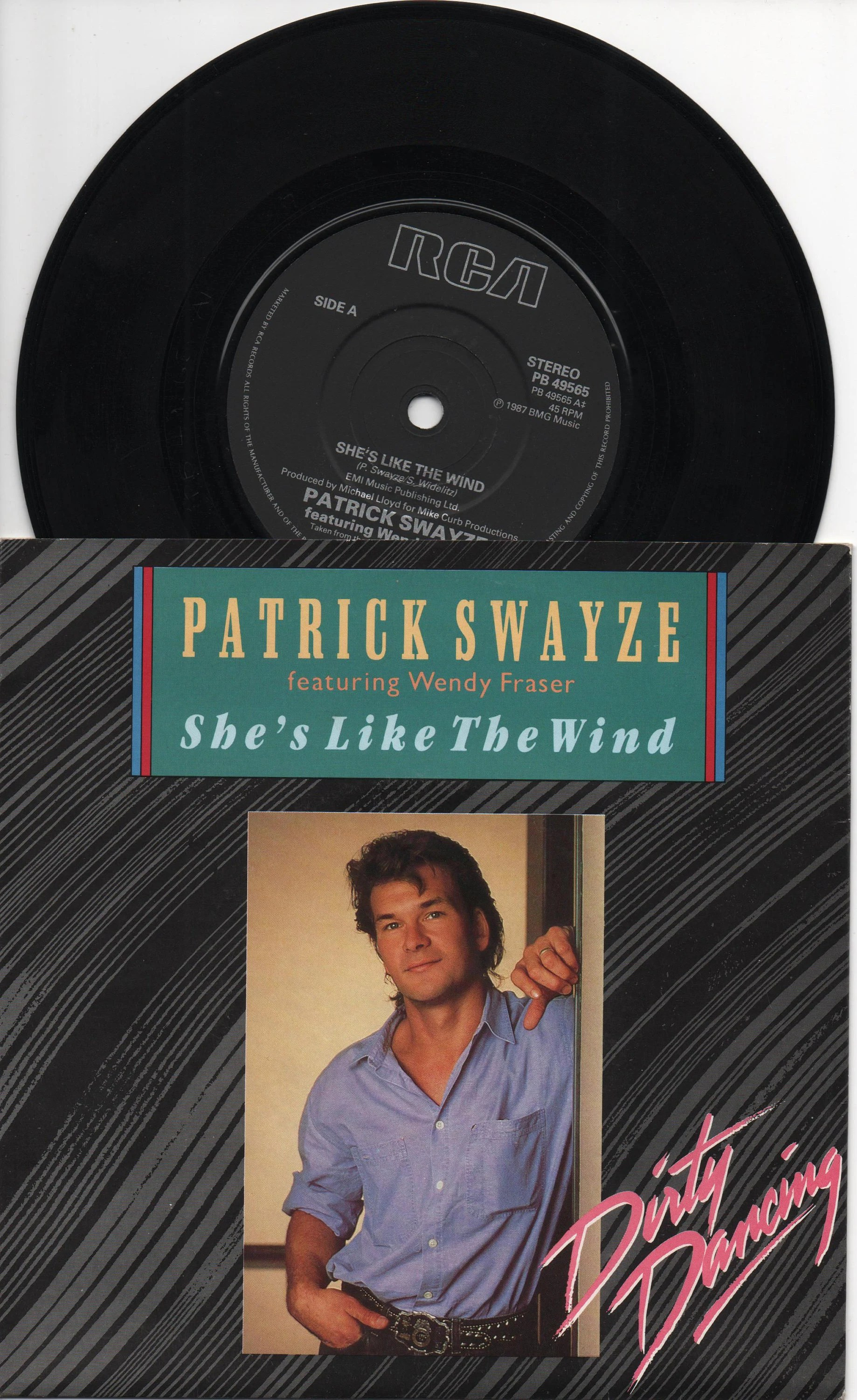 Dirty Dancing Muziek Patrick Swayze She S Like The Wind 1987 Uk Kwestie Zeldzame Originele 7