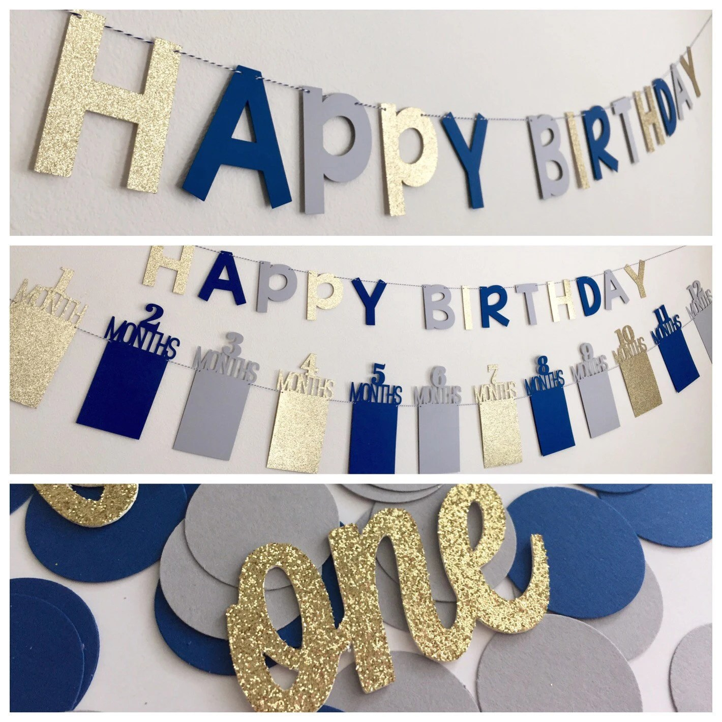 First Birthday Party Decorations First Birthday Banner First Etsy