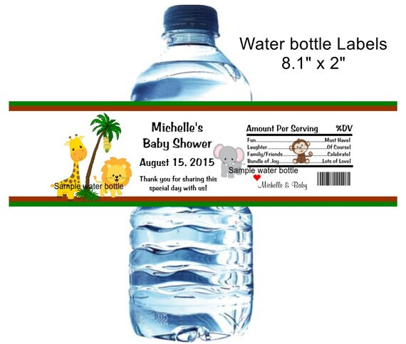 Sample Water Bottle Label example avery water bottle label template