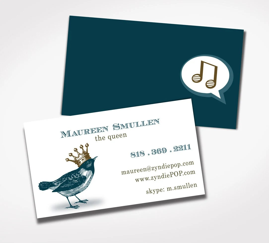 250 Creative PRINTED Business Cards QUEEN or King BIRD Etsy