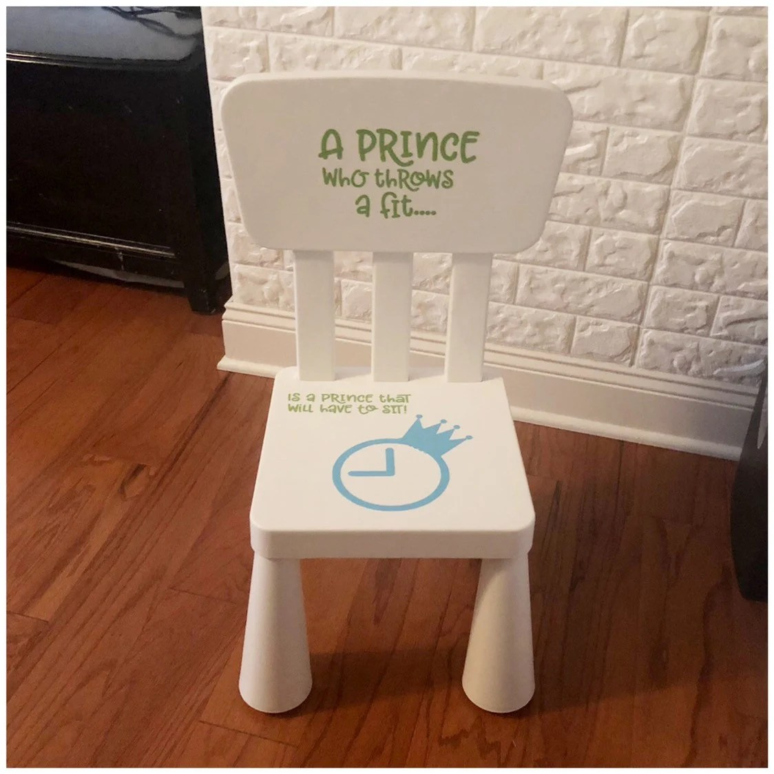 Boy Time Out Chair Decal A Prince Who Throws a Fit Vinyl Etsy