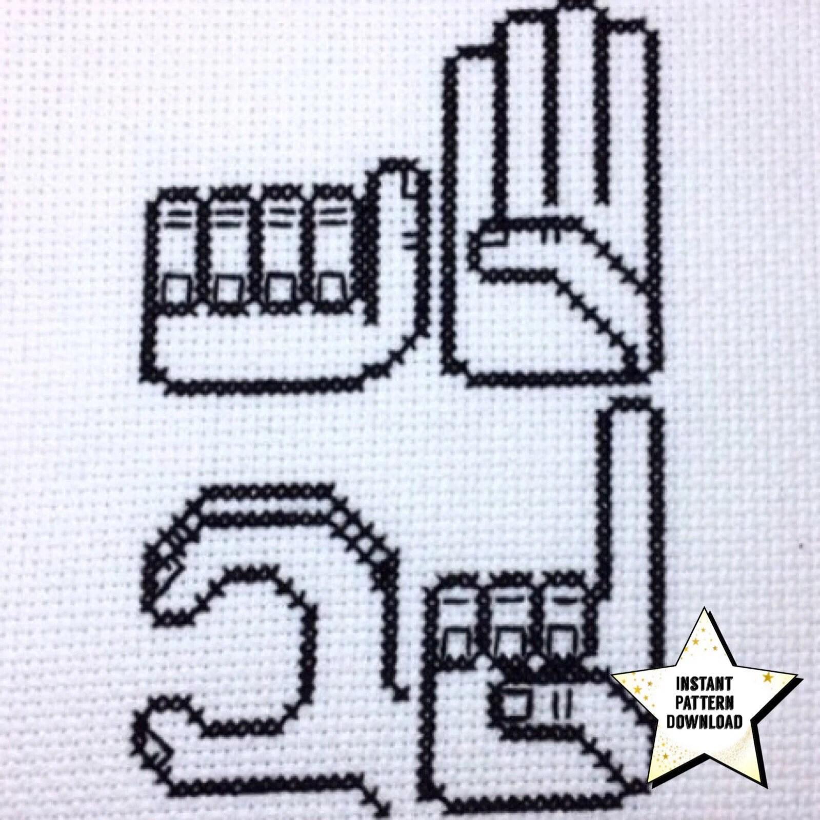 American Sign Language Alphabet Cross Stitch Pattern ASL Etsy