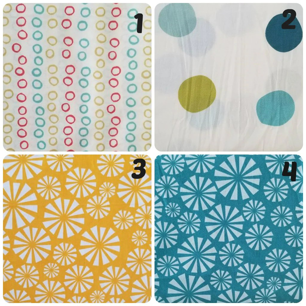Garage Sale Dots Organic Fabric Fabric Destash Organic Cotton Fabric Fabric By The