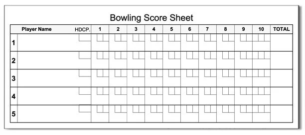 Bowling Score Pad 35 x 85 50-Sheets Notepad Etsy