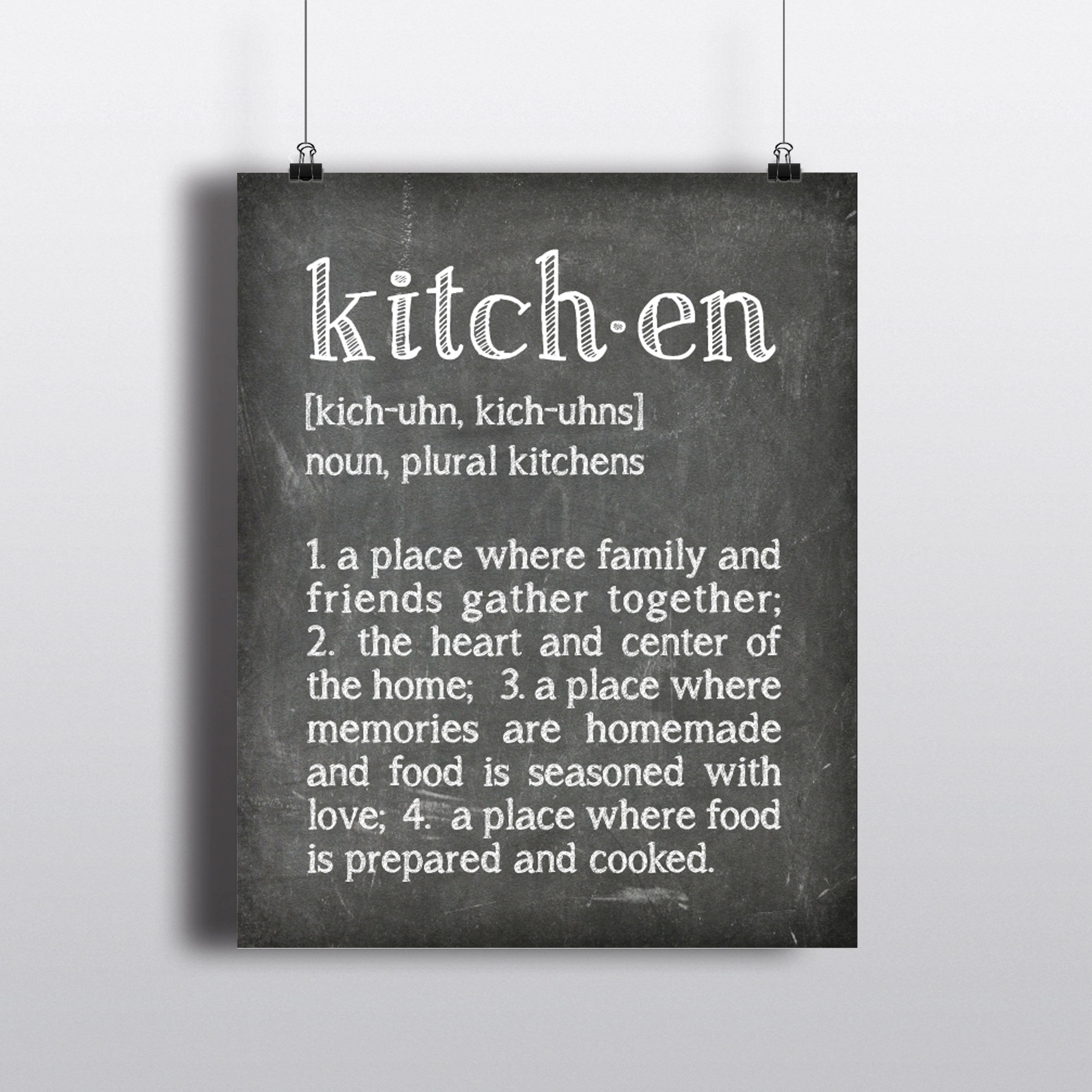11 X 20 Kitchen Design Typography Kitchen Definition Word Art Kitchen Wall Art The Heart Of The Home Where Family Friends Gather Chalkboard Print