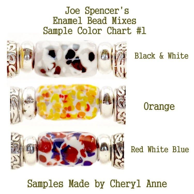 Red White Blue Small Size Enamel Bead Frit with Base by Joe Etsy