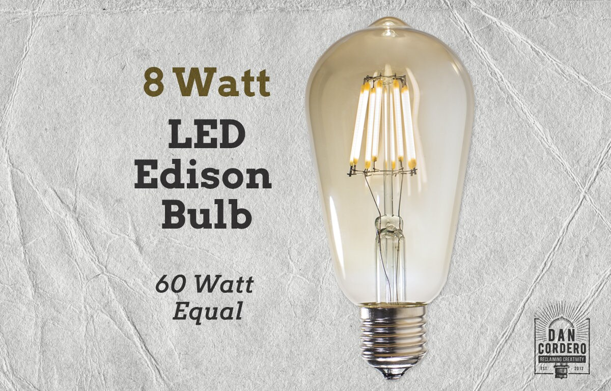 60w Light Bulb Led Edison Light Bulb 8 Watt 60 Watt Equal Vintage Bulb Lamp Supplies Led Filament Bulb Edison Style