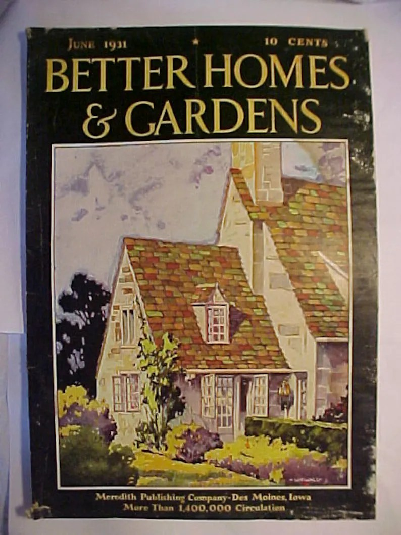 Art Et Decoration Magazine Subscription June 1931 Better Homes Gardens Magazine Has 112 Pages Of Ads And Articles With Cover Art By William Wiswall Interior Decor Magazine