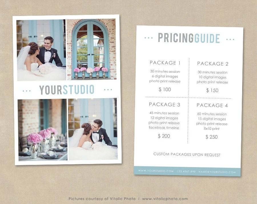 Photography Price List, Wedding Photography, Wedding Price Guide - wedding price list