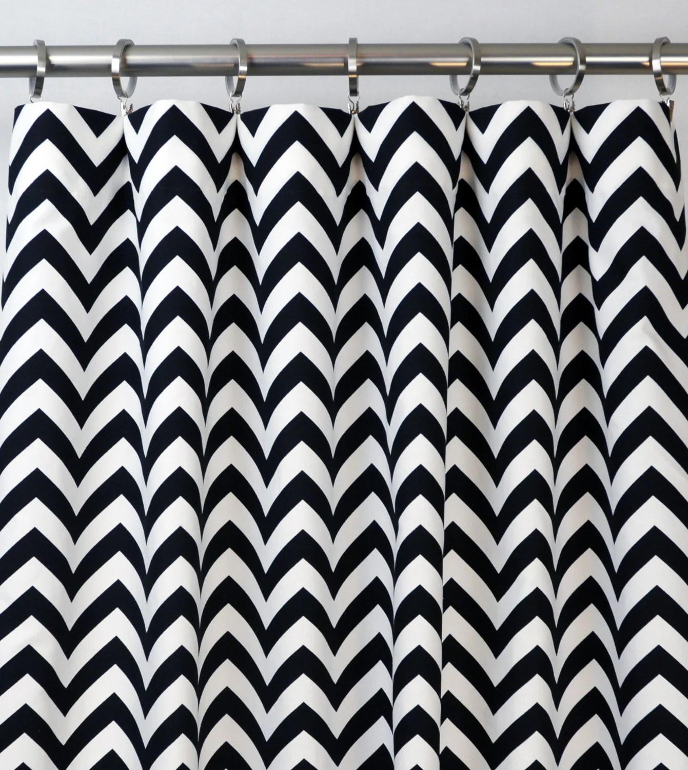 Black And White Chevron Blackout Curtains Black White Chevron Zig Zag Curtains Rod Pocket 84 96 108 Or 120 Long By 25 Or 50 Wide Optional Blackout Or Cotton Lining