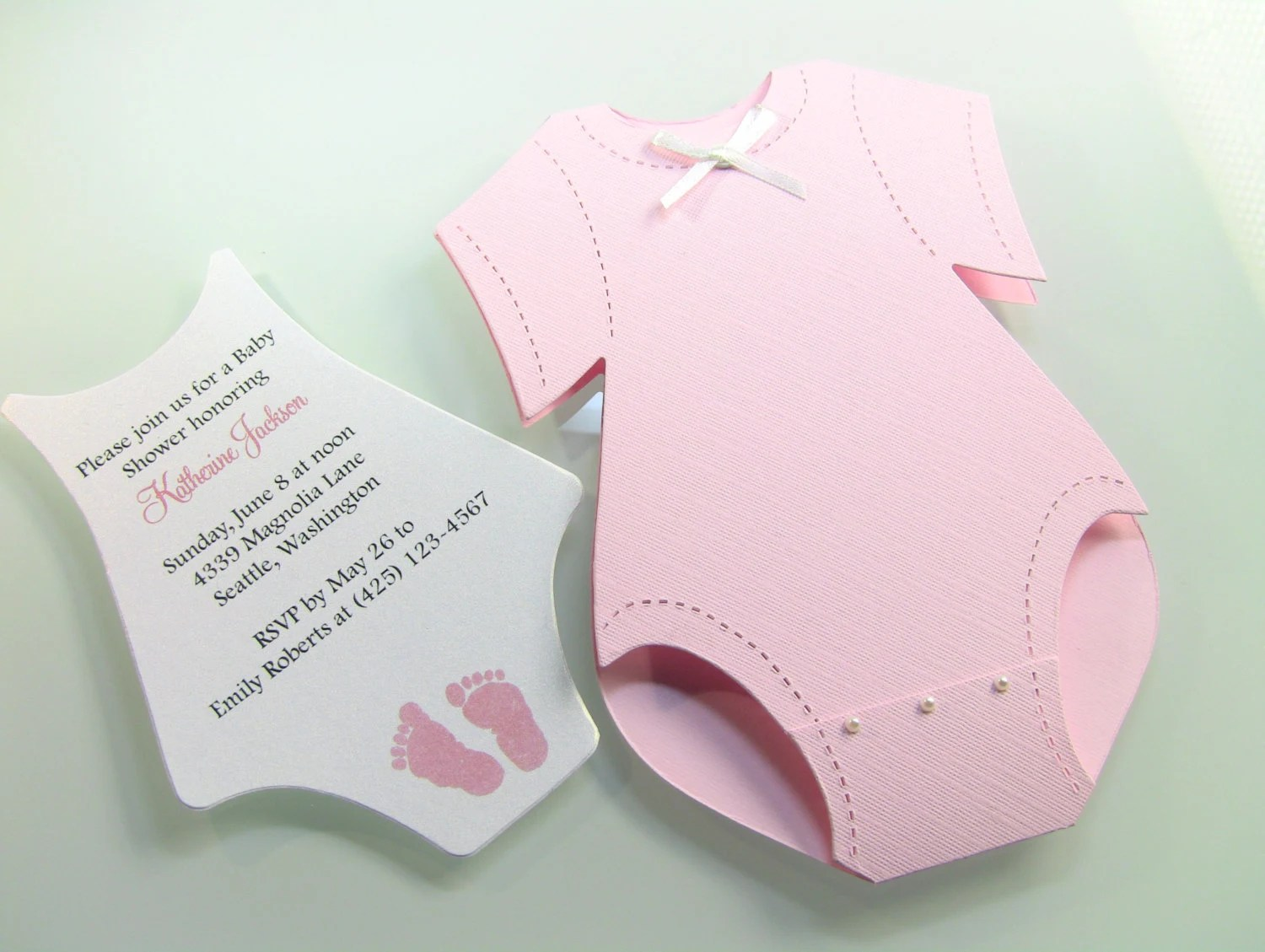 Customize Any Color 10 Onesie Baby Shower Invitation Thank Etsy