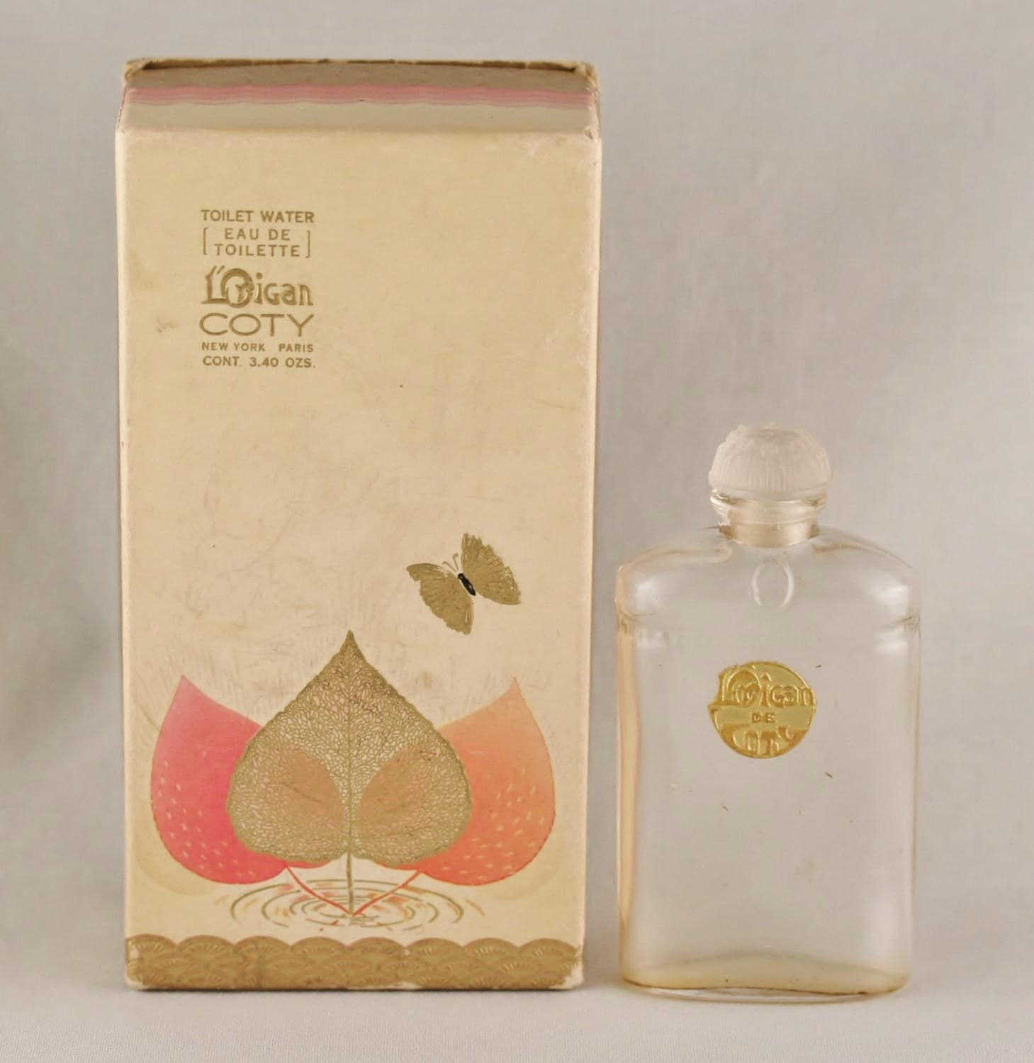 Toilette Deco Original Deco Vintage 1920s Lorigan De Coty French Crystal Eau De Toilette Perfume Bottle Original Box Nouveau Edwardian Downton Gatsby Flapper Era