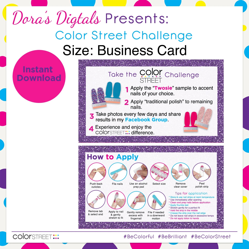 Challenge Purple Business Card JPG Instant Digital Download Etsy