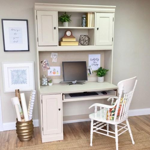 Medium Crop Of White Desk With Hutch